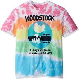 NEVER WORN Tie Dye Woodstock T-shirt